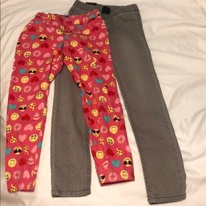 Other - Set of 2 Fun Girls Jeggings